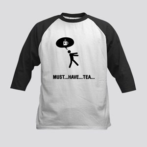 Tea Lover Kids Baseball Jersey