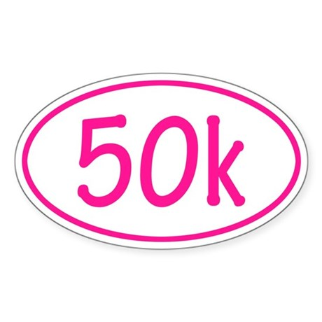 Pink 50k Oval Sticker