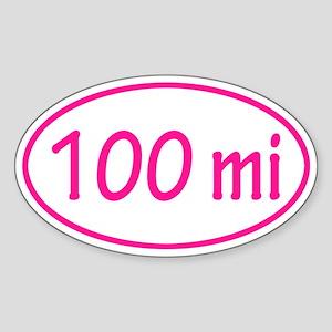 Pink 100 mi Oval Sticker