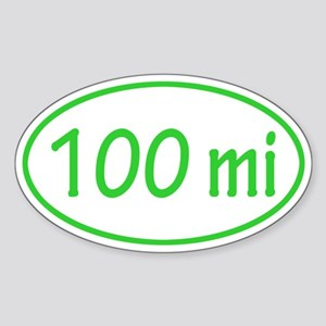 Lime 100 mi Oval Sticker