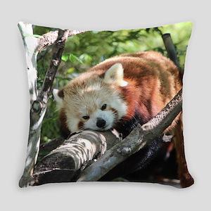 Sleepy Red Panda Everyday Pillow