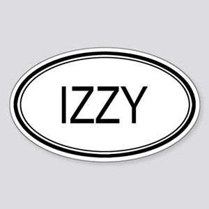 Izzy Oval Design Oval Sticker