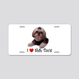 I Love Shih Tzu Aluminum License Plate