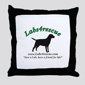 Labs4rescue Throw Pillow