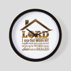 Lord I Am Not Worthy Wall Clock