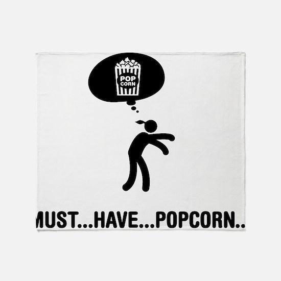 Popcorn Lover Throw Blanket