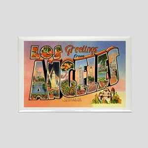 Los Angeles California Greetings Rectangle Magnet