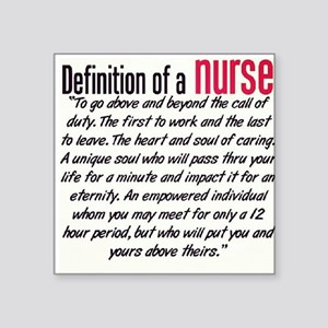 Definition of a Nurse Sticker