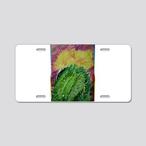cactus, southwest art Aluminum License Plate