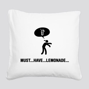 Lemonade Lover Square Canvas Pillow