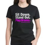 Women's Play Drums shirt (Now in Caribbean Blue!)