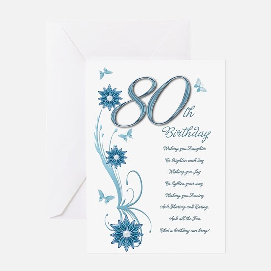 80th birthday 80th birthday greeting cards cafepress 80th birthday in teal greeting card bookmarktalkfo Image collections