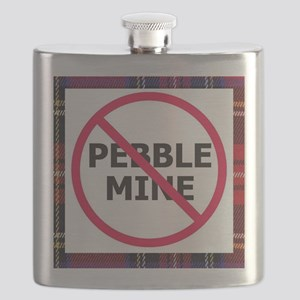 NoPebbleMine Flask (plaid)