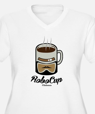 Funny Robo Cup Plus Size T-Shirt