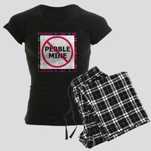 NoPebbleMine Women's Dark Pajamas (plaid)