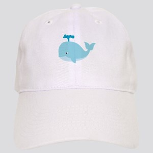 Blue Cartoon Whale Cap