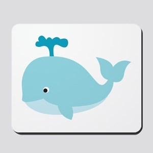 Blue Cartoon Whale Mousepad