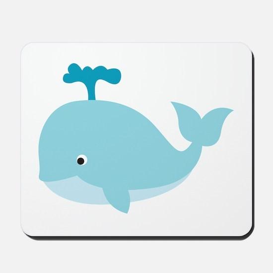 Blue Cartoon Whale Mousepad