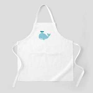 Blue Cartoon Whale Apron
