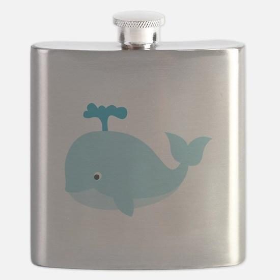 Blue Cartoon Whale Flask