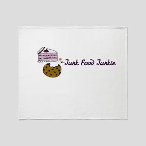 Junk Food Junkie Throw Blanket