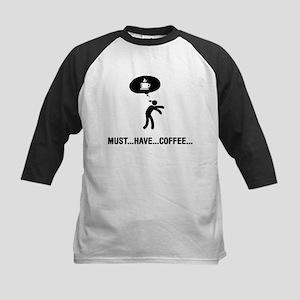 Coffee Lover Kids Baseball Jersey