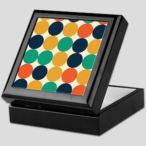 Bright Retro Dots Keepsake Box
