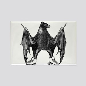 Derby Bat Black Rectangle Magnet