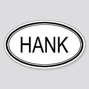 Hank Oval Design Oval Sticker