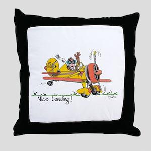 Nice Landing Throw Pillow