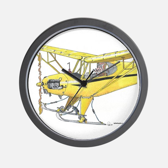 Cool Cub Ski Plane Wall Clock
