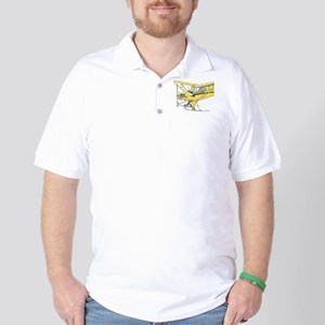 Cool Cub Ski Plane Golf Shirt