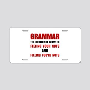 Grammar Nuts Aluminum License Plate