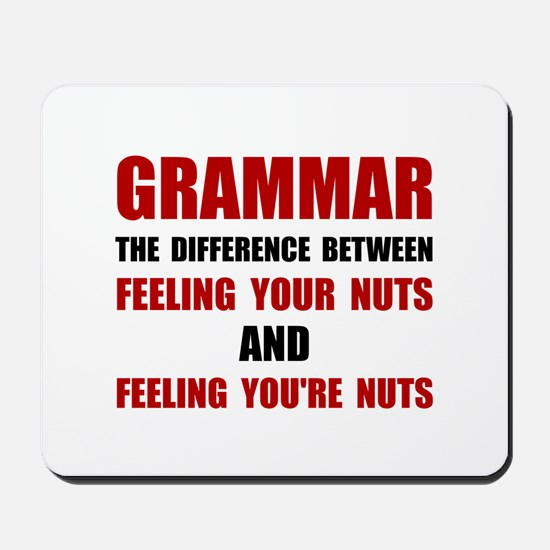 Grammar Nuts Mousepad