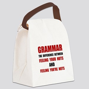 Grammar Nuts Canvas Lunch Bag