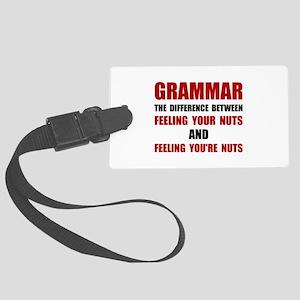 Grammar Nuts Luggage Tag