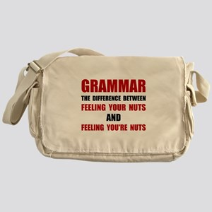 Grammar Nuts Messenger Bag