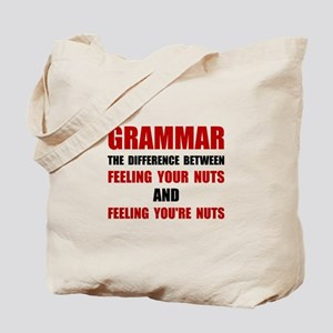 Grammar Nuts Tote Bag