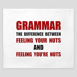 Grammar Nuts King Duvet