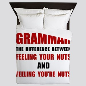 Grammar Nuts Queen Duvet