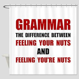 Grammar Nuts Shower Curtain