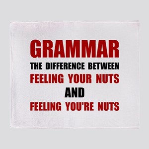 Grammar Nuts Throw Blanket