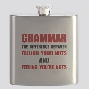 Grammar Nuts Flask