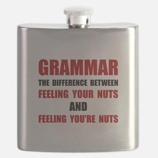 Grammar Nuts Flask