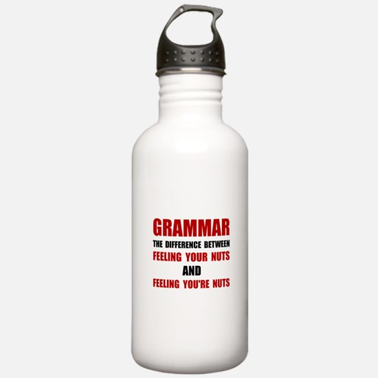 Grammar Nuts Water Bottle
