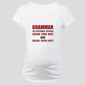 Grammar Nuts Maternity T-Shirt