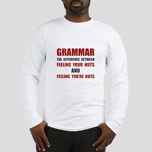 Grammar Nuts Long Sleeve T-Shirt