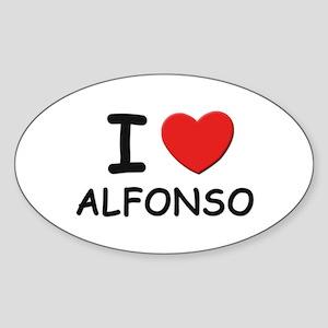 I love Alfonso Oval Sticker