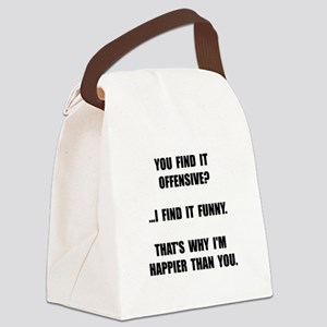 Offensive Happy Canvas Lunch Bag