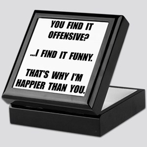 Offensive Happy Keepsake Box